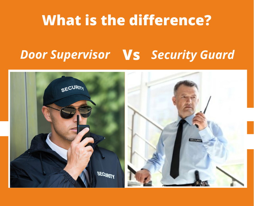 difference between door supervisor and security guard